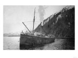 View of the SS Northwestern Steamer - Seward, AK Art by  Lantern Press