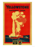 Yellowstone, Old Faithful Advertising Poster - Yellowstone National Park Prints by  Lantern Press