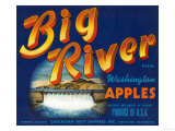 Big River Apple Label - Wenatchee, WA Prints
