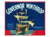 Governor Winthrop Apple Label - Yakima, WA Prints by  Lantern Press
