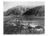 Aerial View of the Town - Douglas, AK Prints by  Lantern Press