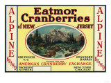 Alpine Eatmor Cranberries Brand Label Prints