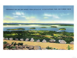 Acadia National Park, ME - Cadillac Mt Summit View of Bar Harbor, Frenchman's Bay Prints by  Lantern Press