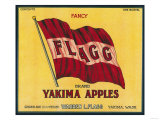Flagg Apple Label - Yakima, WA Prints by  Lantern Press