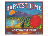 Harvest Time Apple Label - Yakima, WA Prints by  Lantern Press
