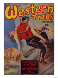 Western Trails Magazine Cover Prints by  Lantern Press