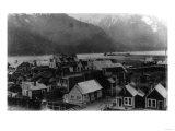 Aerial View of the Town - Hyder, AK Prints by  Lantern Press