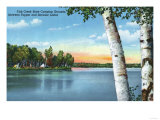 Adirondack Mts, New York - View of Fish Creek State Camping Grounds Prints by  Lantern Press