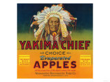 Yakima Chief Apple Label - Yakima, WA Prints by  Lantern Press