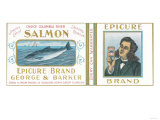 Epicure Salmon Can Label - Astoria, OR Art by  Lantern Press