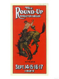 Advertisement for the Round-Up - Pendleton, OR Poster von  Lantern Press