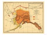 Alaska - Bear Population State Map Prints