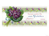Violettes Soap Label - Paris, France Prints by  Lantern Press