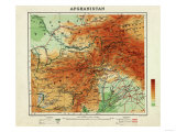 Afghanistan - Panoramic Map - Afghanistan Posters