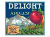 Delight Apple Label - Seattle, WA Láminas por  Lantern Press