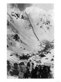 Aerial View of the Chilkoot Pass - Chilkoot Pass, AK Prints by  Lantern Press
