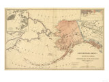 Alaska - Panoramic State Map Prints by  Lantern Press