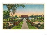 Auburn, New York - Exterior View of Hoopes Gardens Club House Prints