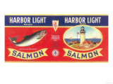 Harbor Light Salmon Can Label - Bellingham, WA Prints