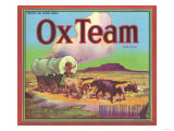 Ox Team Apple Label - Wenatchee, WA Prints