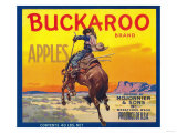 Buckaroo Apple Label - Wenatchee, WA Prints by  Lantern Press