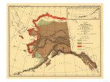 Alaska - Fox Population State Map Prints