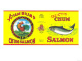 Ayam Salmon Can Label - Singapore Prints