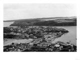 Aerial view of Kodiak, Alaska Photograph - Kodiak, AK Prints by  Lantern Press