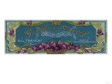 Violette De Cannes Soap Label - Paris, France Prints by  Lantern Press