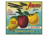 Airship Apple Crate Label - Watsonville, CA Prints