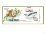 Wild Rose Salmon Can Label - Anacortes, WA Prints