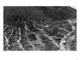 Aerial View of the Town - Wallace, ID Prints