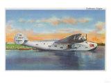 View of the California Clipper Plane - San Francisco, CA Print by  Lantern Press