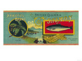 Arbutus Salmon Can Label - Vancouver, BC Prints