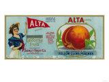 Alta Peach Label - San Francisco, CA Prints