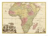 África, Mapa panorámico Láminas