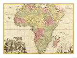 Africa - Panoramic Map - Africa Prints