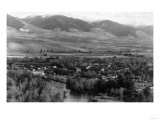 Aerial View of the Town - Salmon, ID Prints by  Lantern Press