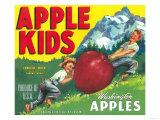 Apple Kids Apple Label - Yakima, WA Prints