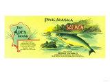 Apex Salmon Can Label - Gerard Point, AK Prints by  Lantern Press