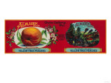 Almaden Peach Label - San Francisco, CA Prints by  Lantern Press