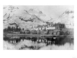 View of the Fort Buildings from the Water - Fort Liecum, AK Prints by  Lantern Press
