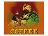 Arab Man Coffee Label Arte por  Lantern Press
