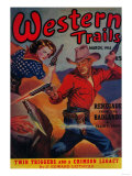 Western Trails Magazine Cover Art by  Lantern Press