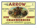 Arrow Brand Cranberry Label Prints
