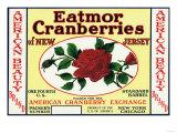 American Beauty Eatmor Cranberries Brand Label Prints
