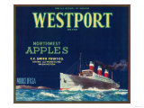 Westport Apple Label - Yakima, WA Prints by  Lantern Press