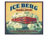 Ice Berg Apple Label - Yakima, WA Prints by  Lantern Press