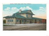 View of Southern Pacific Depot - Santa Rosa, CA Prints by  Lantern Press