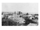 Aerial View of the Town - Waukon, OK Prints by  Lantern Press